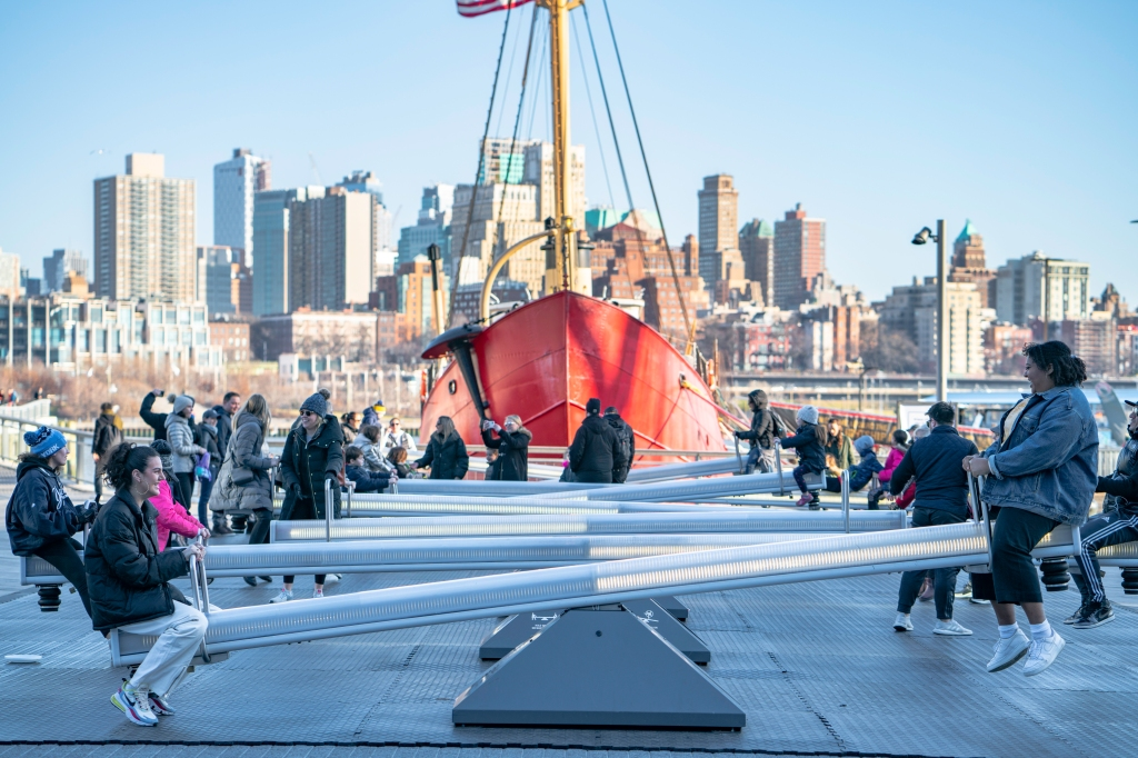 Artful seesaws at South Street Seaport